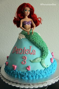 Little Mermaid cake — Birthday Cake Photos--- Mady loves this cake.... I, however, do NOT.