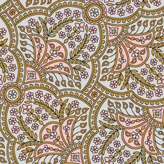 Basket Full Of Posies Paisley ~ Dauphine fabric by peacoquettedesigns on Spoonflower - custom fabric Textile Pattern Design, Surface Pattern Design, Textile Patterns, Textile Prints, Print Patterns, Textiles, Lino Prints, Floral Prints, Paisley Fabric