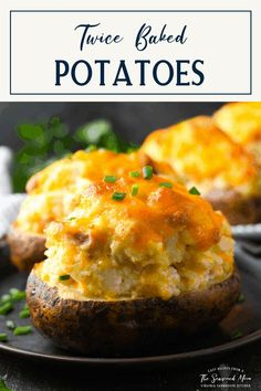 These make-ahead Twice Baked Potatoes are an easy, delicious, and impressive-looking side dish. Once you know how to make twice baked potatoes, the crowd-pleasing recipe is sure to make a regular appearance on your holiday and special occasion menus. No one can resist the creamy mashed potato filling that's loaded with sour cream, bacon, cheese and chives! Creamed Potatoes, Creamy Mashed Potatoes, Best Side Dishes, Side Dish Recipes, Best Twice Baked Potatoes, Leftover Potatoes, Baked Potato Recipes, Potato Skins, Delicious Dinner Recipes