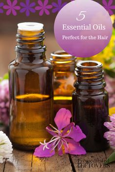5 Essential Oils for Your Hair - Essential oils can make great natural hair treatments. Take a look at these five essentials for healthy hair.
