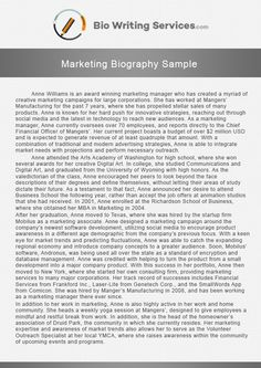 Extraordinary Executive Biography Sample Which Can Help You