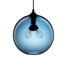 Niche Modern  Enchanting Glass Pendant Lamps  Binary Pendant Sapphire now featured on Fab.