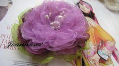 Wodna Lilia:)-broszka Kwiat Rękodzieło -duża-3d