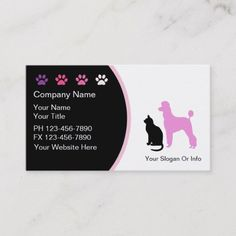 Shop Pet Grooming Business Cards New created by Luckyturtle. Personalize it with photos & text or purchase as is! Dog Grooming Business, Pet Grooming, Dog Walking Flyer, Business Card Design, Business Cards, Pet Kennels, Dog Branding, Text Layout, Pet Sitting