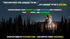 """""""You stay. I go. No following."""" Givling Invite Code: AS225966 #givlingcode #studentdebt #mortgage #loans #trivia #animation #irongiant #wb"""