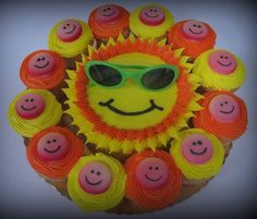 Sunshine Cake  Smiley Cupcakes — Other Cakes