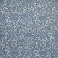 La Garoupe - Provence Blue - Florals - Fabric - Products - Ralph Lauren Home - RalphLaurenHome.com