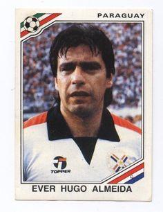 panini sticker mexico 86 world cup paraguay 1986 ever hugo almeida #163 from $1.45
