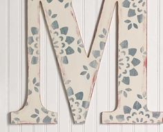 @Michaels Stores...Keira's letters...antiqued...pattern to match/ coordinate with crib set