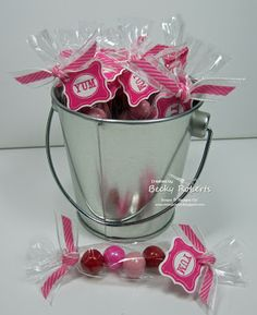 Stampin' Up! Treat Holder  by Becky R at Inking Idaho: Valentine Candies