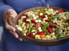 Just wanted to share this delicious recipe from Lidia Bastianich with you - Buon Gusto! PASTA SALAD WITH TOMATO, MOZZARELLA, AND GREEN BEANS
