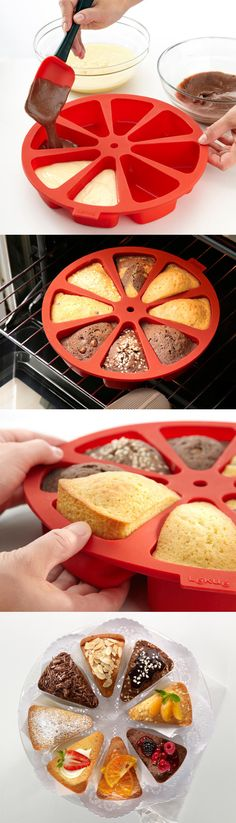 Cake mold for individual slices. Neat!!