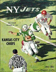 AFL Game Program: New York Jets vs. Kansas City Chiefs (November 27, 1966)