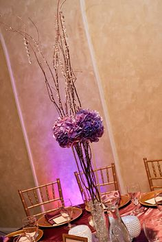 ellyB Wedding: Tyeema & Gerik at Eleven 15 Events - centerpieces