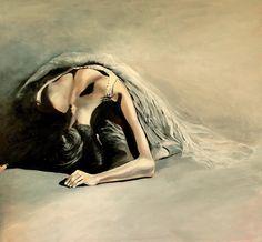 Ballerina painting by Agata Mikulska-Sienkiewicz, acryl on canvas, 110x120 cm