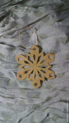 Купить снежинка №4 - бежевый, елочные игрушки, елочные украшения, елочное украшение, елочная игрушка