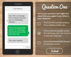 Make your quizzes interactive with this text message simulation quiz template for Articulate Storyline Online Trivia, Instructional Design, Blended Learning, New Chapter, Text Messages, Free Resume, Quizzes, Sample Resume, No Response