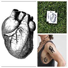 Heart  temporary tattoo Set of 2 by Tattify on Etsy, $7.00