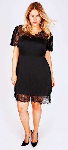 18 Plus Size Black Dresses {with Sleeves | Sleeve, Plus size ...