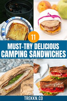 Camping Meal Planning, Camping Menu, Campfire Desserts, Types Of Sandwiches, Bacon Fries, Grilling Recipes, Camping Recipes, Camping Ideas, Camping Hacks