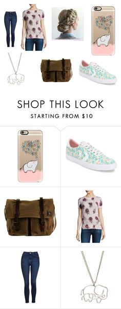 """""""floral & elephant fun"""" by awesomeanimalover ❤ liked on Polyvore featuring Casetify, Converse, DamnDog, Kate Spade, Topshop and Frankie & Stein"""