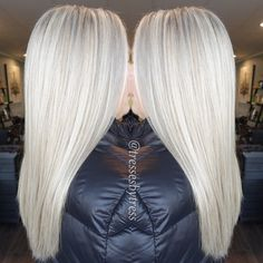 Icy blonde platinum