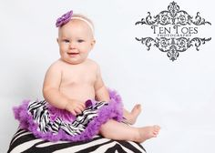 Purple Zebra Print Pettiskirt