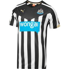 Newcastle United F.C Puma Replica Home Jersey - Black Soccer Kits, Football Kits, Team Shirts, Sports Shirts, Club, Newcastle United Fc, British Football, Soccer Uniforms, Popular Sports