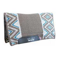SMX Eldorado Felt Saddle Pad Charcoal/Pacific Blue - Item # 41730