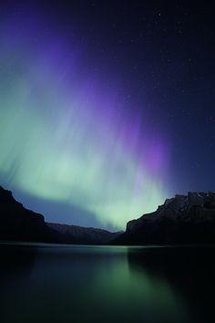 Auroras  Taken by William Lefort on June 8, 2014 @ Banff, Lake Minnewanka, Alberta Canada