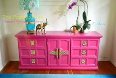 Paint to Order Hollywood Regency Dresser Credenza Media Buffet SIdeboard
