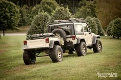 Jeep Wrangler with off road trailer!