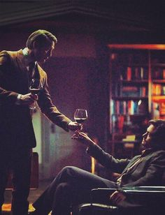 Hannibal and Will Graham.  This is such a pleasing picture of them.