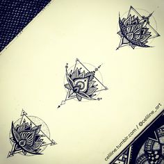 Lotus FLOWER variations - zentangle, Doodle, Artwork, drawing, tattoo idea, tattoo design, zen, black, sketchbook, doodling, zendoodle, art piece