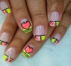 Flower Nails, Summer Nails, Pretty Nails, Nail Designs, Girly, Nail Art, Enamels, Beauty, Nice Nails