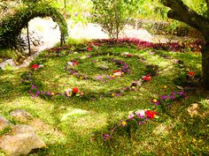 I love this for both the advent spiral and the garden itself