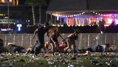 En vídeo: caos y carreras por el tiroteo en Las Vegas