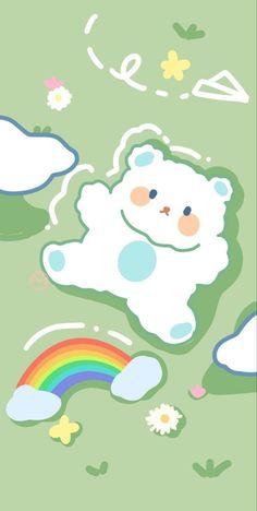 Cute Pastel Wallpaper, Soft Wallpaper, Cute Wallpaper For Phone, Bear Wallpaper, Cute Patterns Wallpaper, Kawaii Wallpaper, Aesthetic Iphone Wallpaper, Disney Wallpaper, Hippie Wallpaper