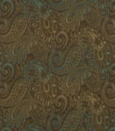 Upholstery Fabric-Robert Allen Tamil Paisley-Jewel Dining room chairs and throw pillows on couch to tie together?