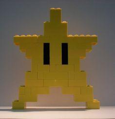 """Lego nintendo super mario bros yellow star lego brick 8 bit custom """" new Lego Super Mario, Lego Mario, Super Mario Party, Mario Bros., Super Mario Bros, Lego Duplo, Lego Toys, Bolo Do Mario, Nintendo Party"""
