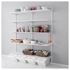 ALGOT Wall upright, shelf and hook - IKEA