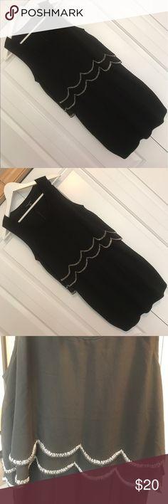 Beaded Black Cocktail Dress Medium NWT Beaded Black Cocktail Dress Medium The Clothing Company Dresses