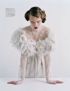 """The New Guard: Couture's Outre Attitude"""" by TIM WALKER FOR W ..."""
