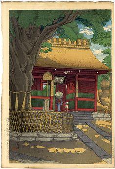 石渡江逸(庄一郎)「鶴見の観音」/ Ishiwata Koitsu, 1931