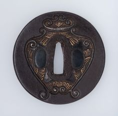 Tsuba with design of a jar Japanese Edo period 18th century (?) School Nara School (Japanese)