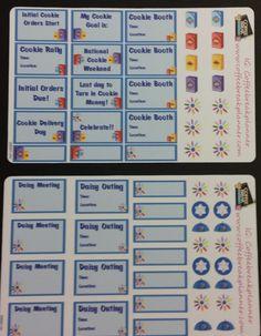 Planner Stickers   Erin Condren  #Daisy #Girl #Scout  Meeting Reminder #Stickers  Cookie Program Reminder Stickers  GS002-HV  GS001-HV by CoffeeBreakPlanner on Etsy