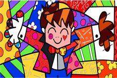 Toile Art Romero Britto Peinture Papier Peint L'étreinte Affiche Romero Britto Stickers Muraux Murale Décoration De Noë Paris Kunst, Paris Art, Arte Pop, Art Parisien, Pop Art, Tableau Design, Art Web, Canvas Art, Canvas Prints