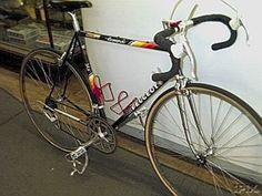 My 1990's Peugeot, tricked out with Campagnolo components.