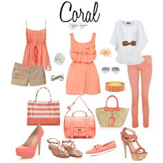 Coral, created by happycamperaz on Polyvore