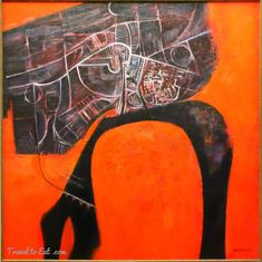City and River in Orange Landscape by Robert Ellis, Auckland Art Gallery, New Zealand New Zealand Art, New Zealand Travel, Auckland Art Gallery, Time In England, Royal College Of Art, Best Artist, Art School, River, Artists